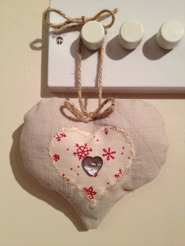 Love heart decoration by Samantha Halliwell
