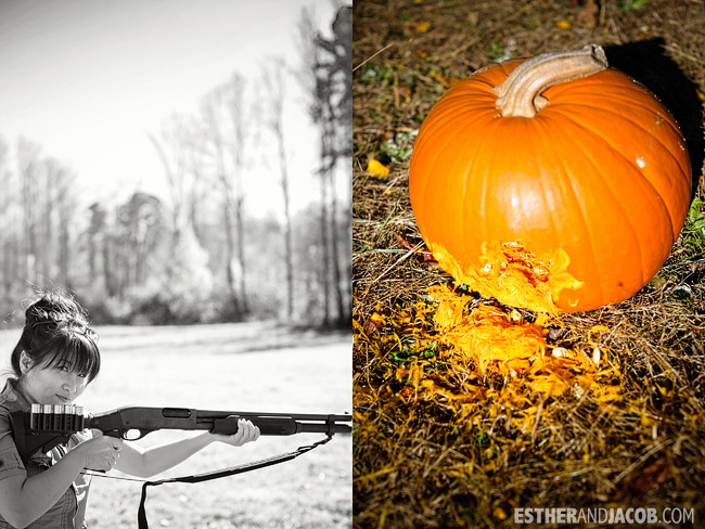 Pumpkin Shooting at Chattanooga National Forest | Fall Checklist 2012