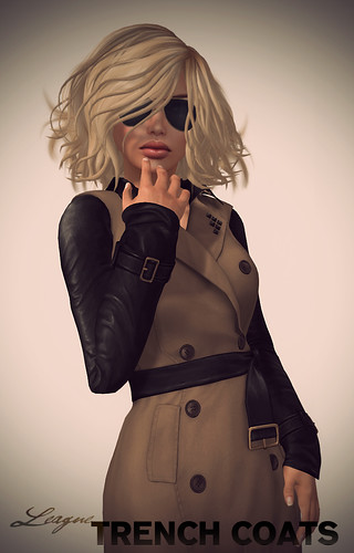 *League* Trench Coat Closeup