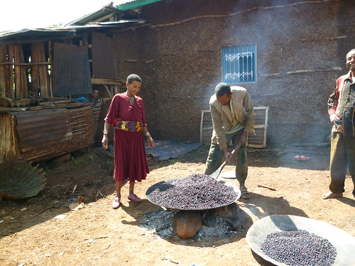 Men proactively do house chores, Bure region, Ethiopia