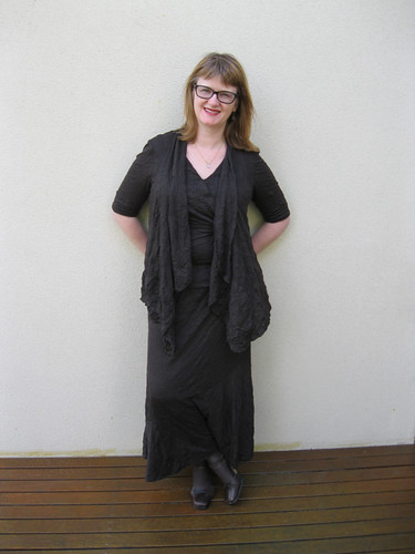 New Look 6470 skirt, Simplicity 2283 vest, Simplicity 2181 top