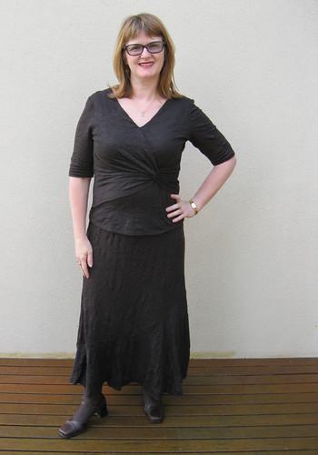 New Look 6470 skirt, Simplicity 2181 top