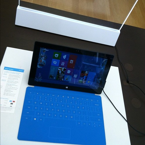 Microsoft Surface. Nice hardware, a bit wonky at responding to orientation change events but promising!