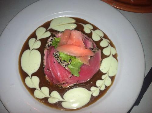 Amazing tuna dish at the Driftaway cafe