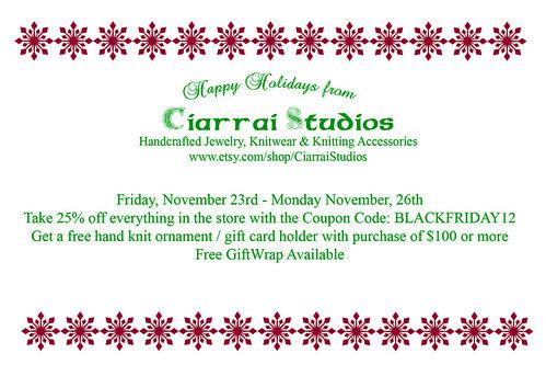 Ciarrai Studios Holiday Card