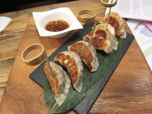 Mushroom Gyoza and Chicken Gyoza