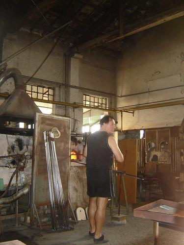 artisan making glass in Murano Italy