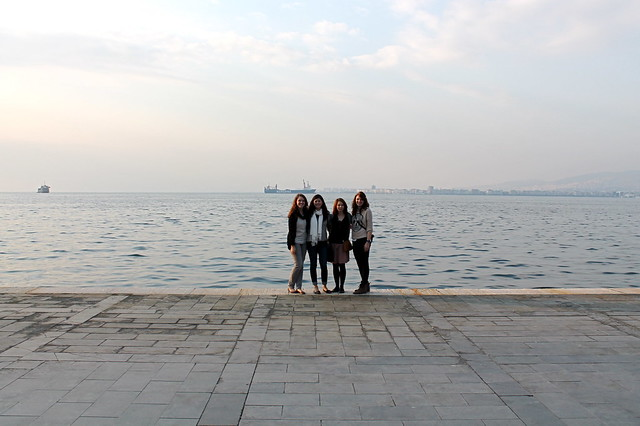 Four girls by the sea