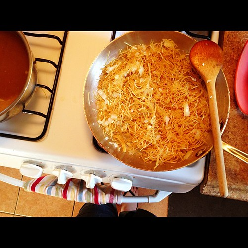What to make when you miss your grandma. #fideos