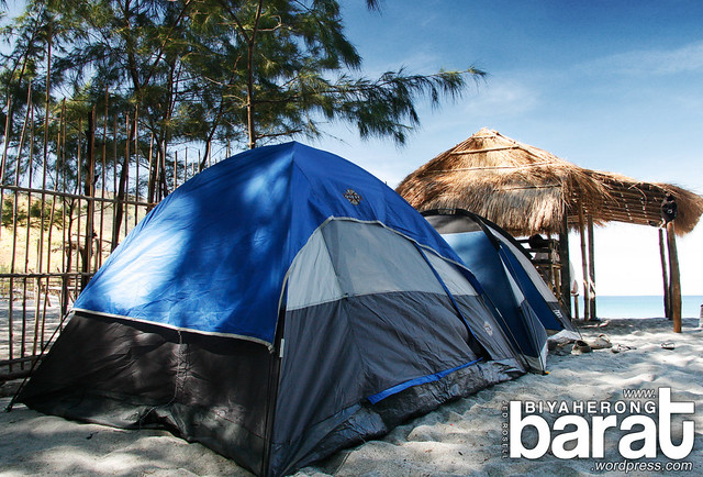 Tents in Nagsasa Cove Zambales