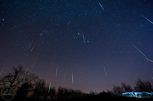 An hour under the Geminids sky
