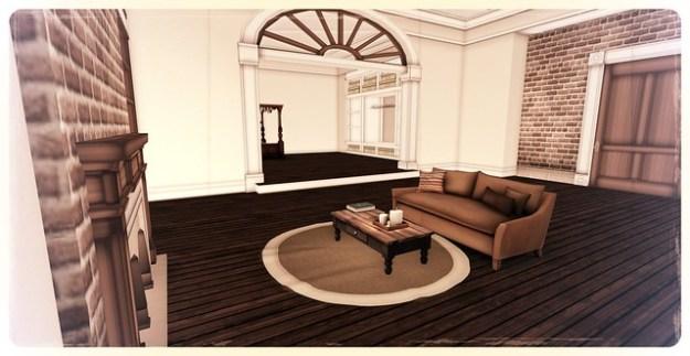 Living room and bedroom Barnesworth Anubis New Orleans Studio