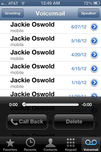 Jackie's voicemails