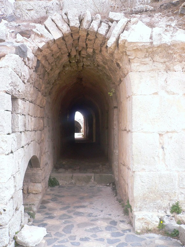 Inside Crac des Chevaliers, Syria