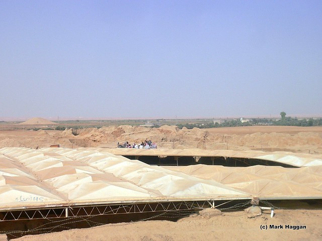 Archeological work in Mari, on the Syria Iraq border