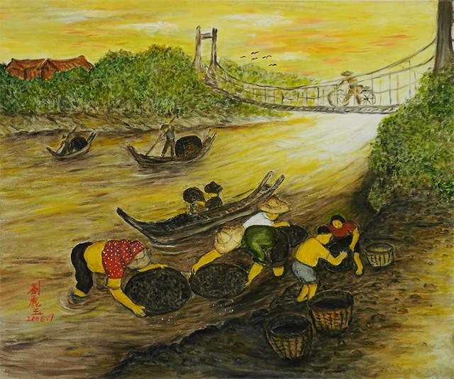 基隆河撈煤Coal Catching in Keelung River
