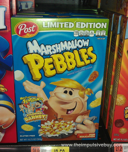 Limited Edition Marshmallow Pebbles Starring Barney