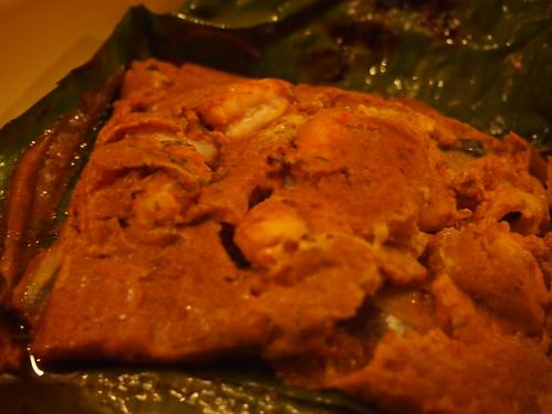 Detail: Grilled seafood Otak