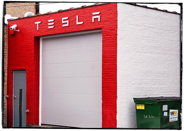 Tesla Garage on Grand Ave