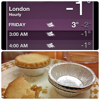 Freezing Temperatures in London and Mincepies