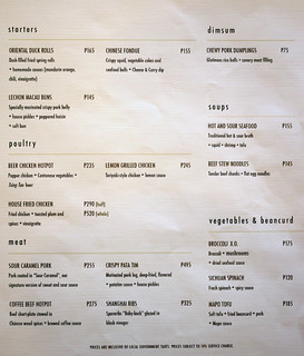 Chow Fun menu