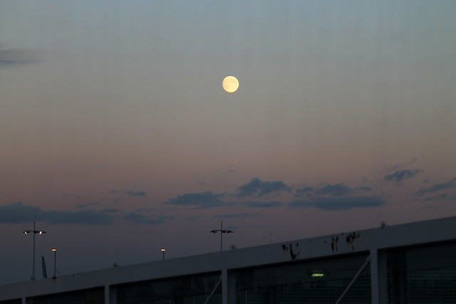 Full moon over CDG