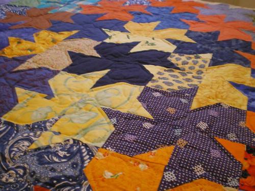 patchwork tesselations sur un couvre lit patchcath. Black Bedroom Furniture Sets. Home Design Ideas