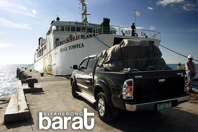 Cars boarding RORO Ferry Port of Roxas Oriental Mindoro