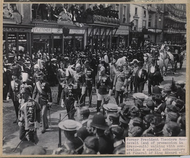 King Edward Hotel TR marches in King Edward VII funeral procession May 20 1910 Library of Congress