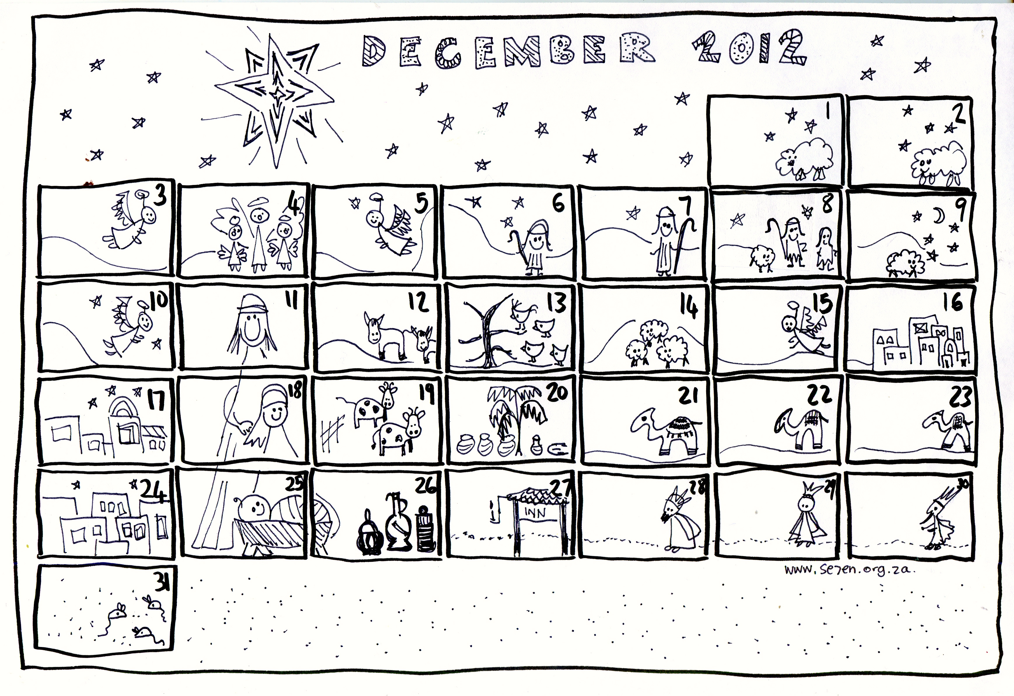 Se7en S December And Free Printable Advent Calendar Se7en