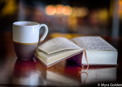 Latte & Journal by Myra Golden
