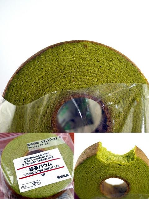 Muji's Baumkuchen green tea