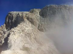 Gipfelaufbau Peitlerkofel, es geht in den Klettersteig