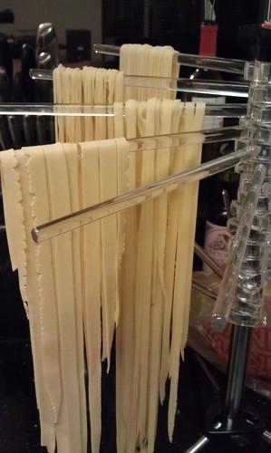 Pasta hanging to dry by pipsyq