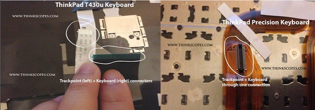 ThinkPad T430u vs Precision keyboard connector