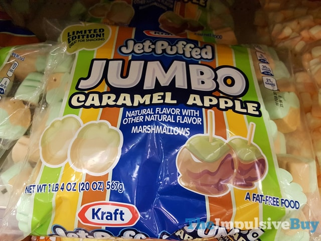 Limited Edition Kraft Jet-Puffed Jumbo Caramel Apple Marshmallows