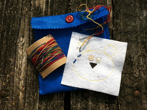 children's embroidery kit: primary colors