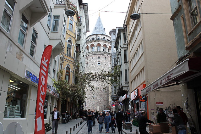 Galata Tower street view