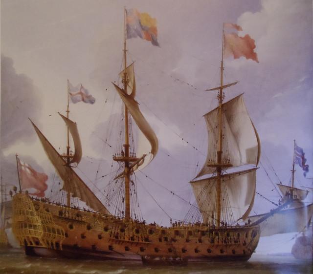 HMS Royal Prince 1670 portrait - Beecq