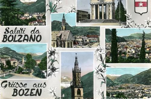 postcard - bolzano - vedutine - 1953