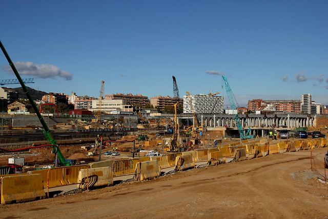 Trabajos en zona futura estación de La Sagrera - 5-12-12 - © Marc Arroyo