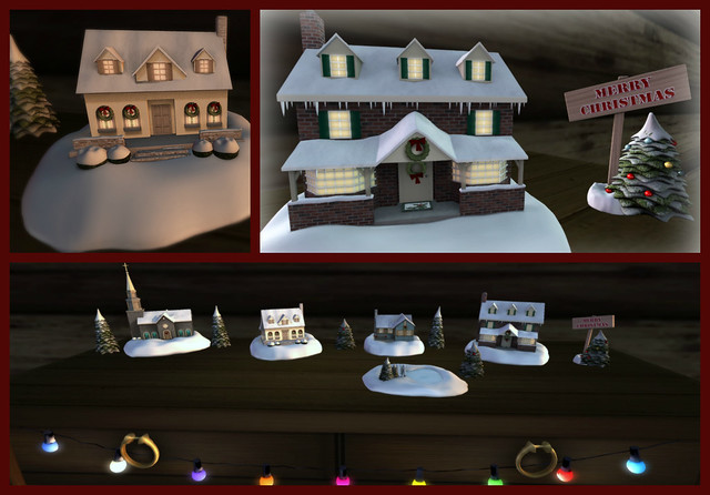 Christmas Village Collage