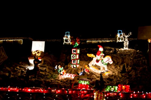 intense christmas house