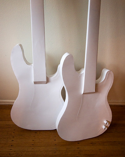 Paper Instruments - bass guitars