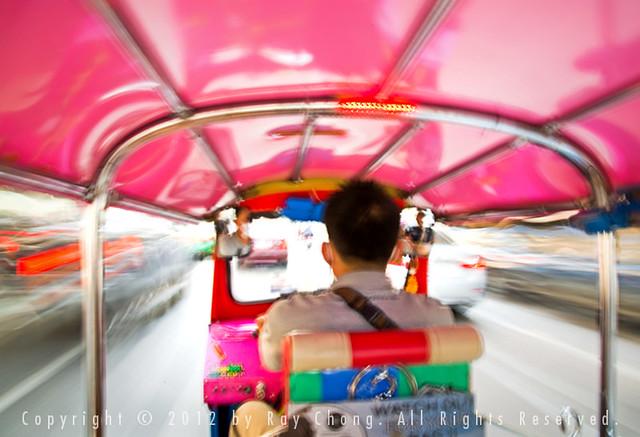 Tuk-tuk ride, Bangkok, 2012