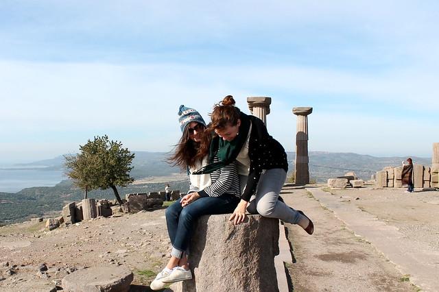 Climbing at Assos