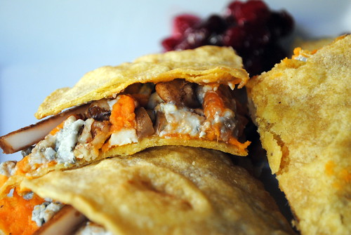 Sweet Potato & Blue Cheese Quesadillas with Balsamic Onions