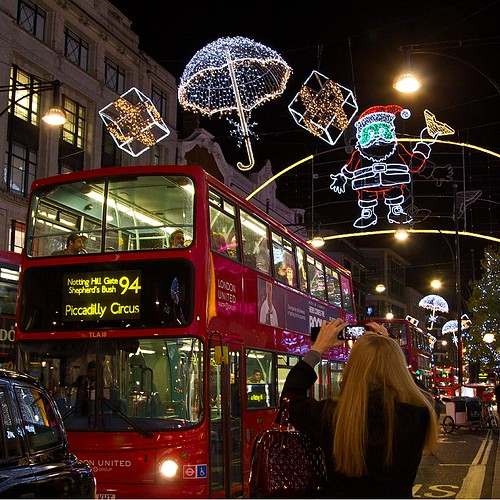 Christmas lights, Oxford Street, London 2012
