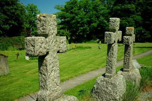 20120527-Y_Church Yard Stone Crosses - Bourton-on-Dunsmore by gary.hadden