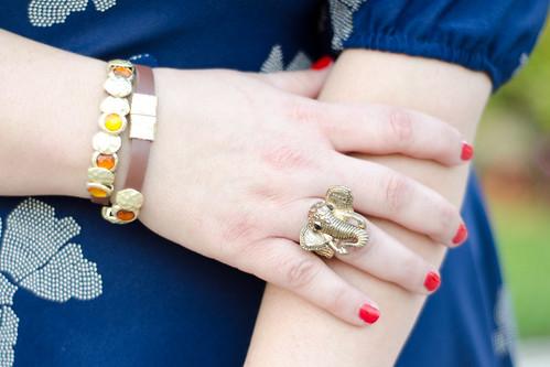 Bracelet & elephant ring